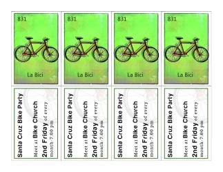 Santa Cruz Bike Party spoke cards
